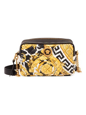 VERSACE quilted leather camera bag