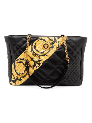 VERSACE quilted leather tote bag