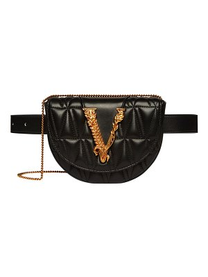 VERSACE Quilted Napa Belt Bag