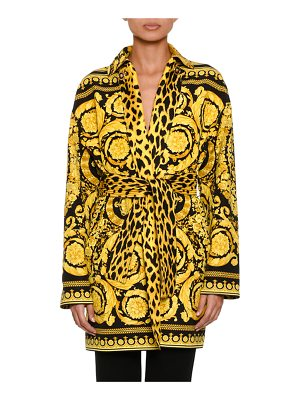 VERSACE Reversible Twill Trench Coat