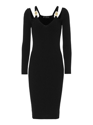 VERSACE ribbed-knit bodycon midi dress