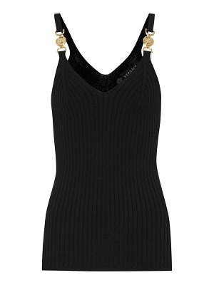 VERSACE ribbed-knit camisole