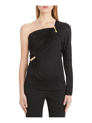 VERSACE safety pin detail one-shoulder top