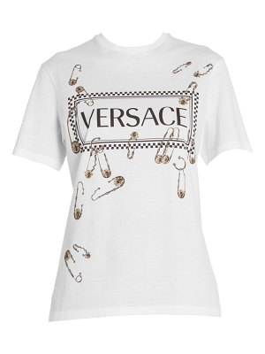 VERSACE safety pin logo tee