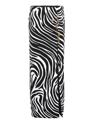 VERSACE safety pin printed jersey skirt