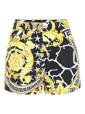 VERSACE savage barocco denim shorts