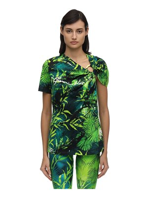 VERSACE Signature jungle print jersey t-shirt