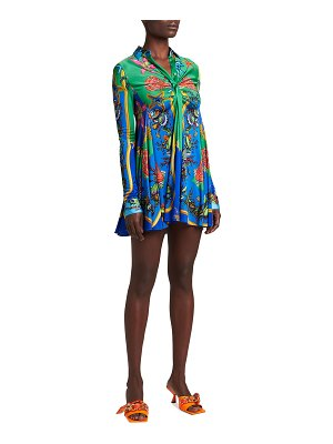 VERSACE Tresor De La Mer Print Mini Dress