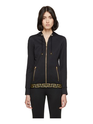 Versace Underwear black greek key hoodie
