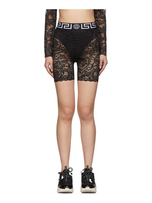 Versace Underwear black lace cycling shorts