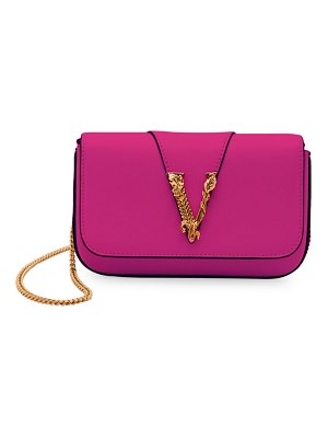 VERSACE virtus leather clutch