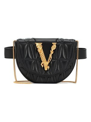 VERSACE virtus quilted-leather belt bag