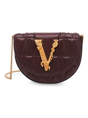 VERSACE virtus quilted leather belt bag