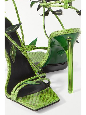 VERSACE watersnake sandals