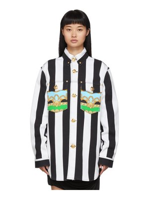 VERSACE white and black baroque shirt