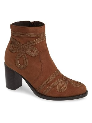 Very Volatile bordeaux embroidered ankle bootie
