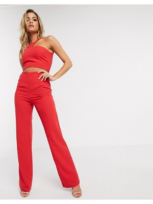 Vesper cut out jumpsuit in red