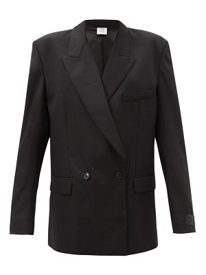 VETEMENTS double-breasted wool-blend jacket