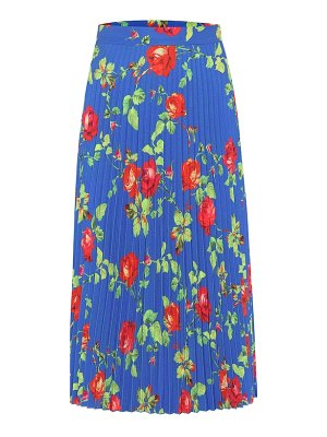 VETEMENTS floral pleated crêpe skirt