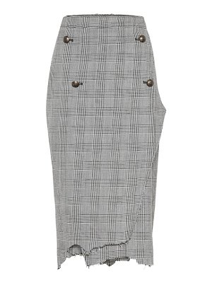 VETEMENTS houndstooth wool-twill skirt