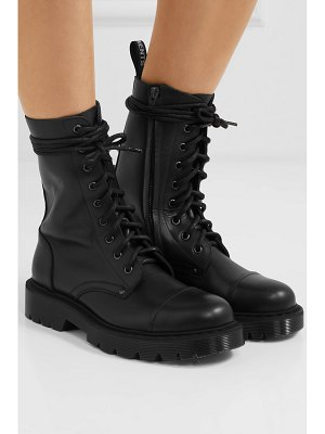 VETEMENTS lace-up leather ankle boots