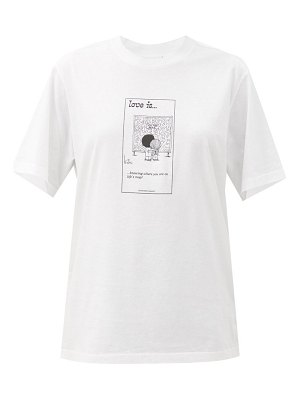 VETEMENTS love is. you are here cotton-jersey t-shirt
