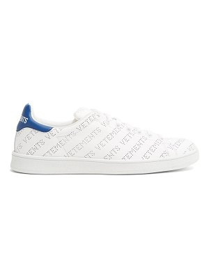 VETEMENTS low top perforated leather trainers