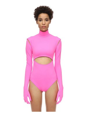 VETEMENTS Lycra bodysuit w/ cut-outs