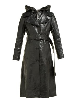 VETEMENTS masked leather trench coat