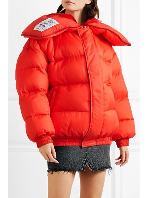 VETEMENTS oversized appliquéd quilted shell jacket