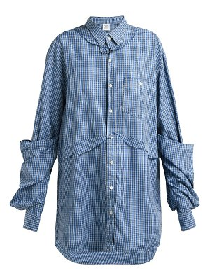VETEMENTS oversized checked cotton shirt