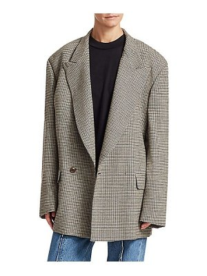 VETEMENTS oversized doulbe-breasted houndstooth jacket