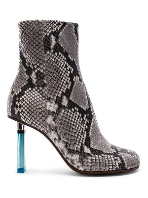 VETEMENTS Python Embossed Ankle Toe Boots
