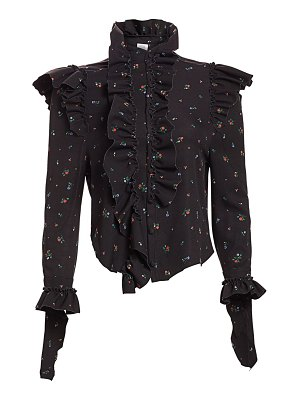 VETEMENTS reworked floral ruffle blouse