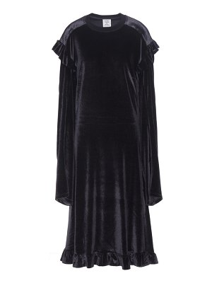 VETEMENTS Ruffled velvet dress