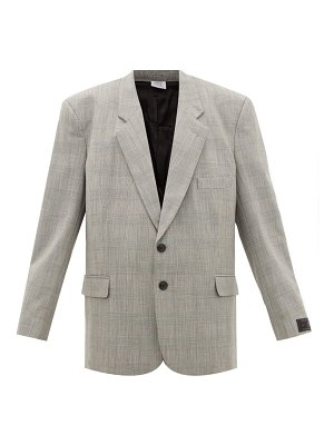 VETEMENTS single-breasted prince of wales-checked blazer