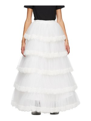 VETEMENTS tulle and lace long skirt
