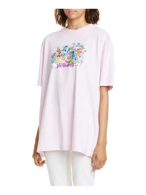 VETEMENTS unicorn print cotton tee