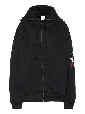 VETEMENTS zip-through cotton hoodie