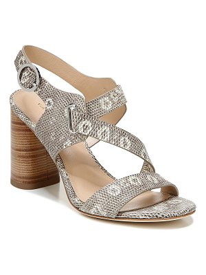 Via Spiga Hyria Heeled Embossed Leather Sandals