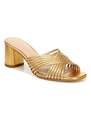 Via Spiga Rafaela Metallic Mule Sandals