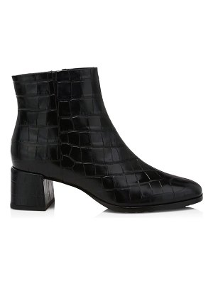 Via Spiga sahira croc-embossed leather boots