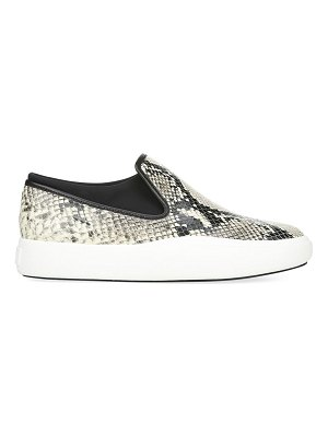 Via Spiga yvonne snake-printd leather slip-on sneakers