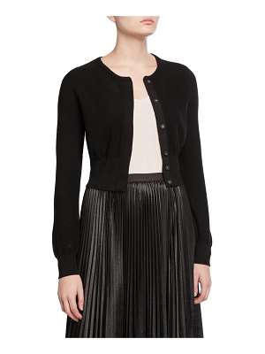Victor Glemaud Button-Front Cropped Wool Cardigan