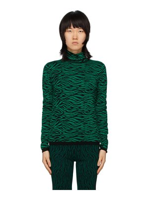 Victor Glemaud green and black victoria merino turtleneck