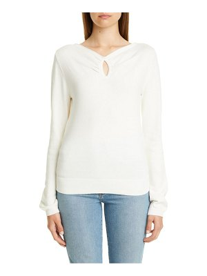 Victor Glemaud keyhole cotton & cashmere sweater