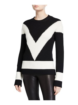 Victor Glemaud Long-Sleeve Colorblock V Sweater