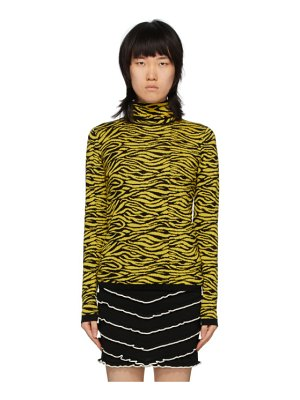 Victor Glemaud yellow and black victoria merino turtleneck