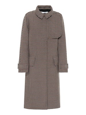 Victoria Beckham checked wool coat