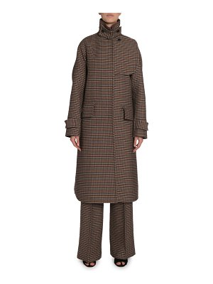 Victoria Beckham Checked Wool Felted Coat